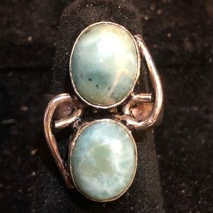 Beautiful Larimar 925 Silver Ring